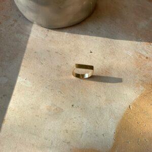 eshop bague carrée goldfilled